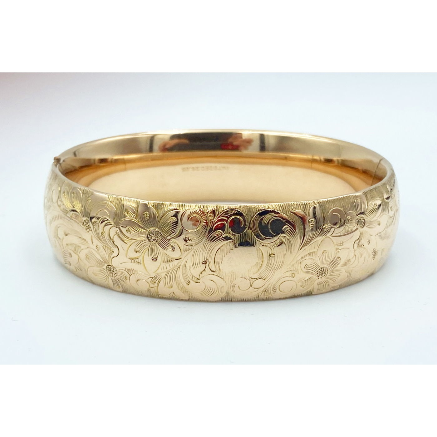 """Highly Detailed 1"""" Wide Lovely Larger Engagement Bangle"""