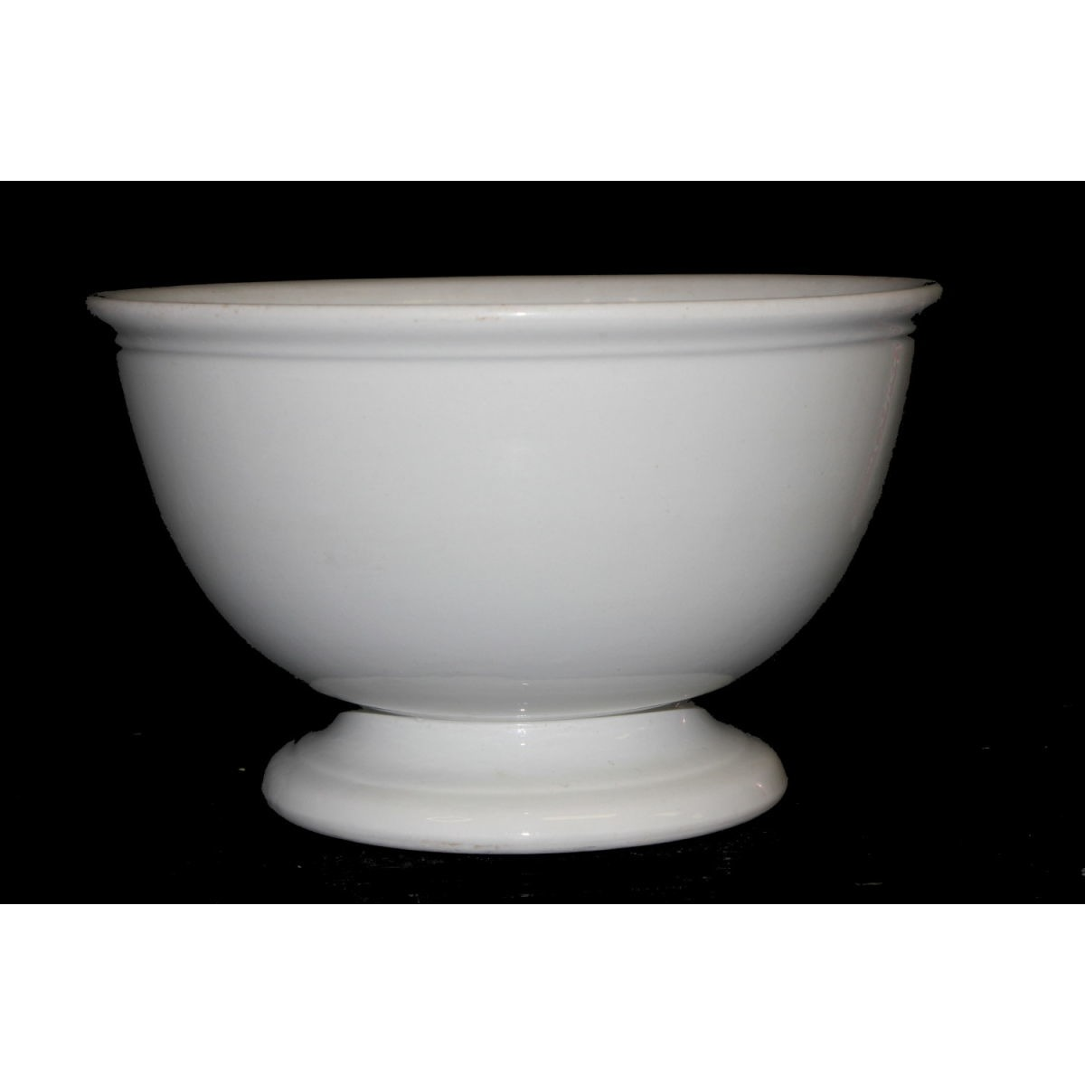 "Plain Ironstone 10"" Meakin Punch Bowl"