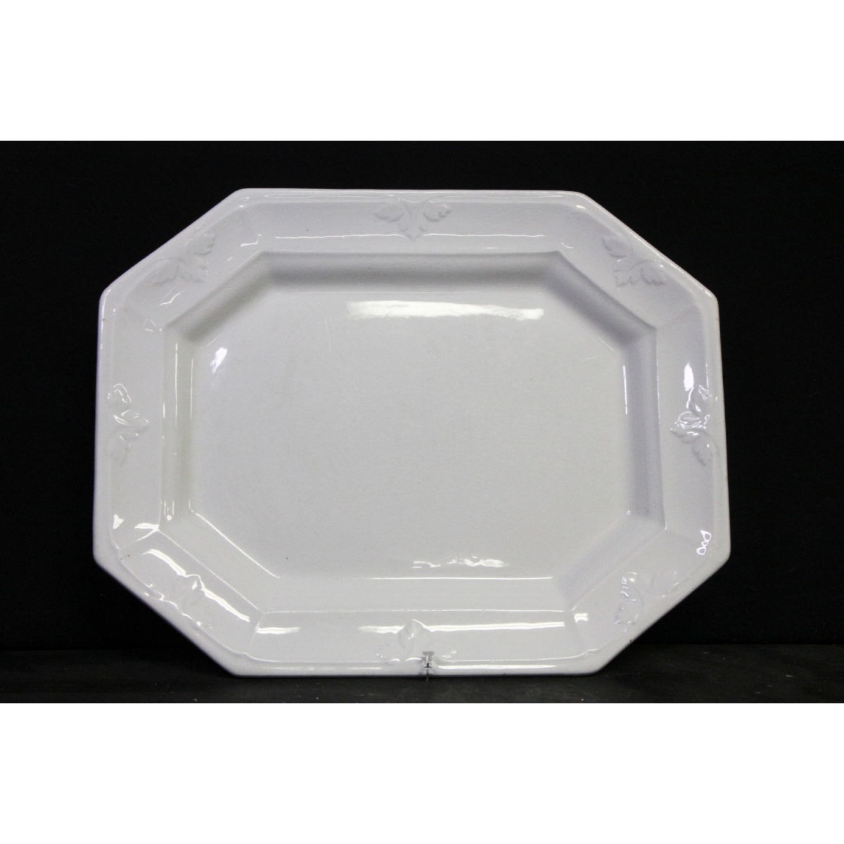 Large Octagonal Ironstone Platter with Slight Decoration