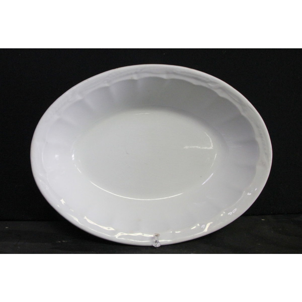 Oval Ceres Wheat Ironstone Serving Bowl