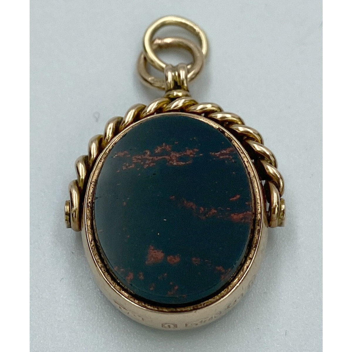 Different Oval-Shaped Small Antique English Gold Spinner Watch Fob - Perfect for Grouping