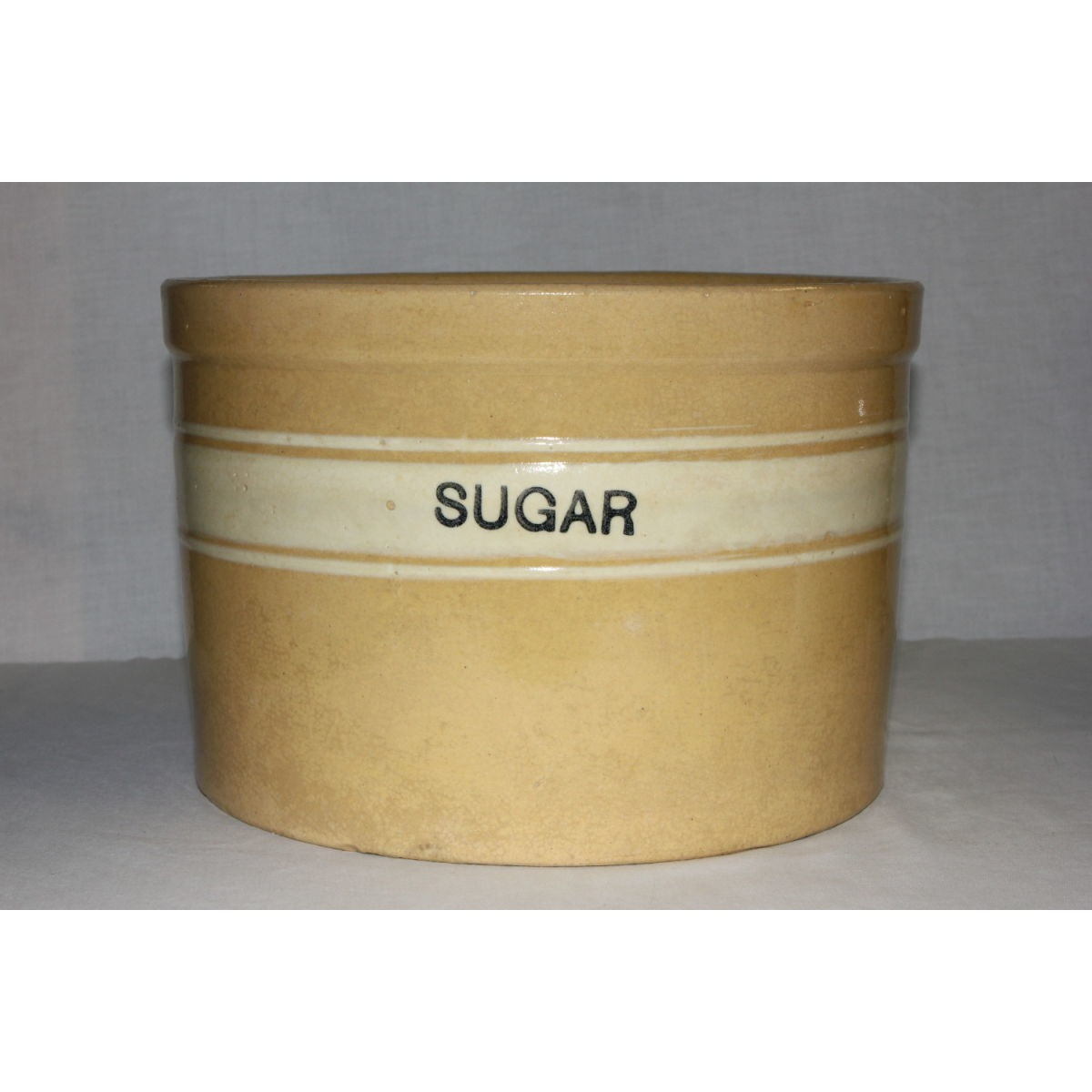 Yellowware Dandyline Sugar Canister