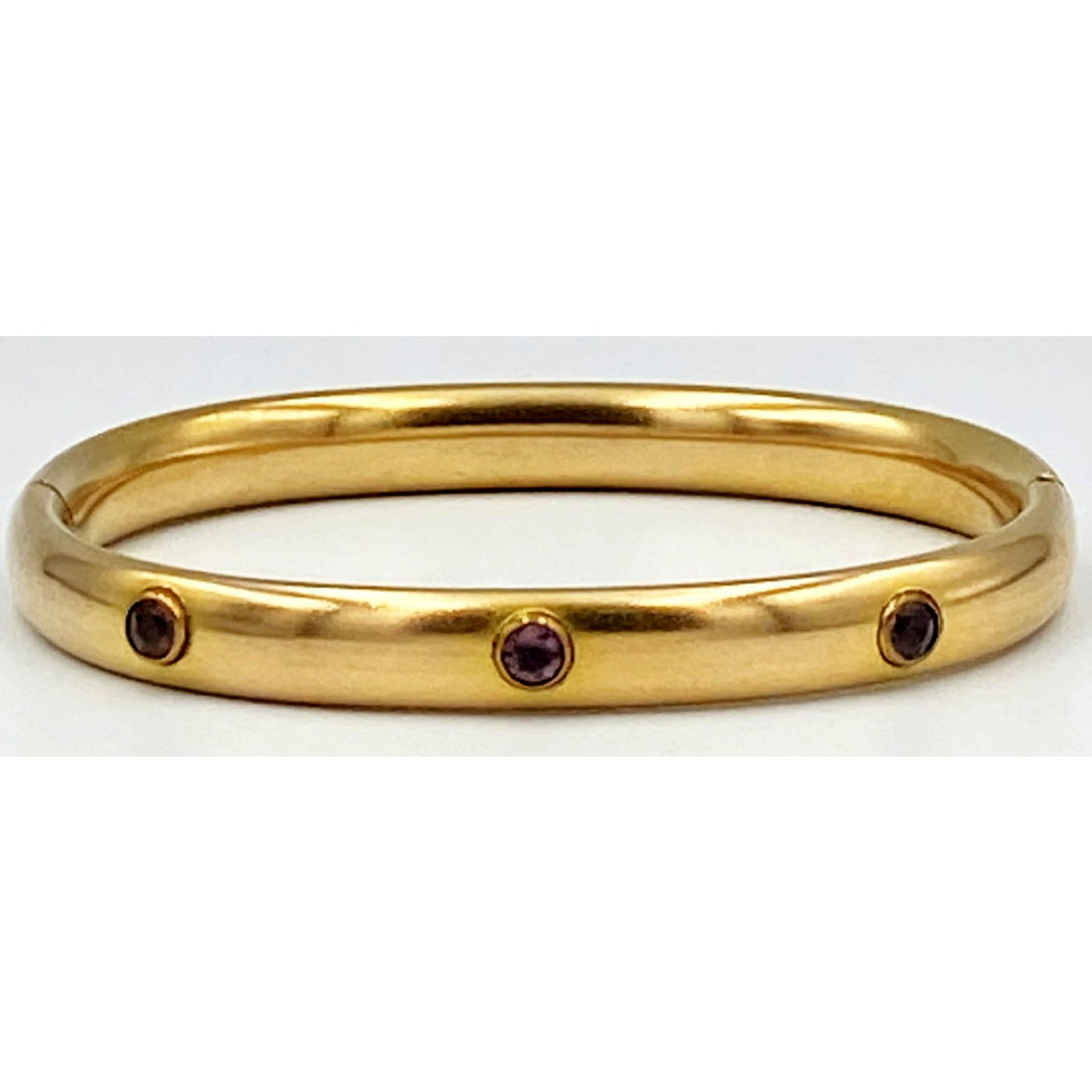 Lovely Simple Bangle with Light Purple Stone