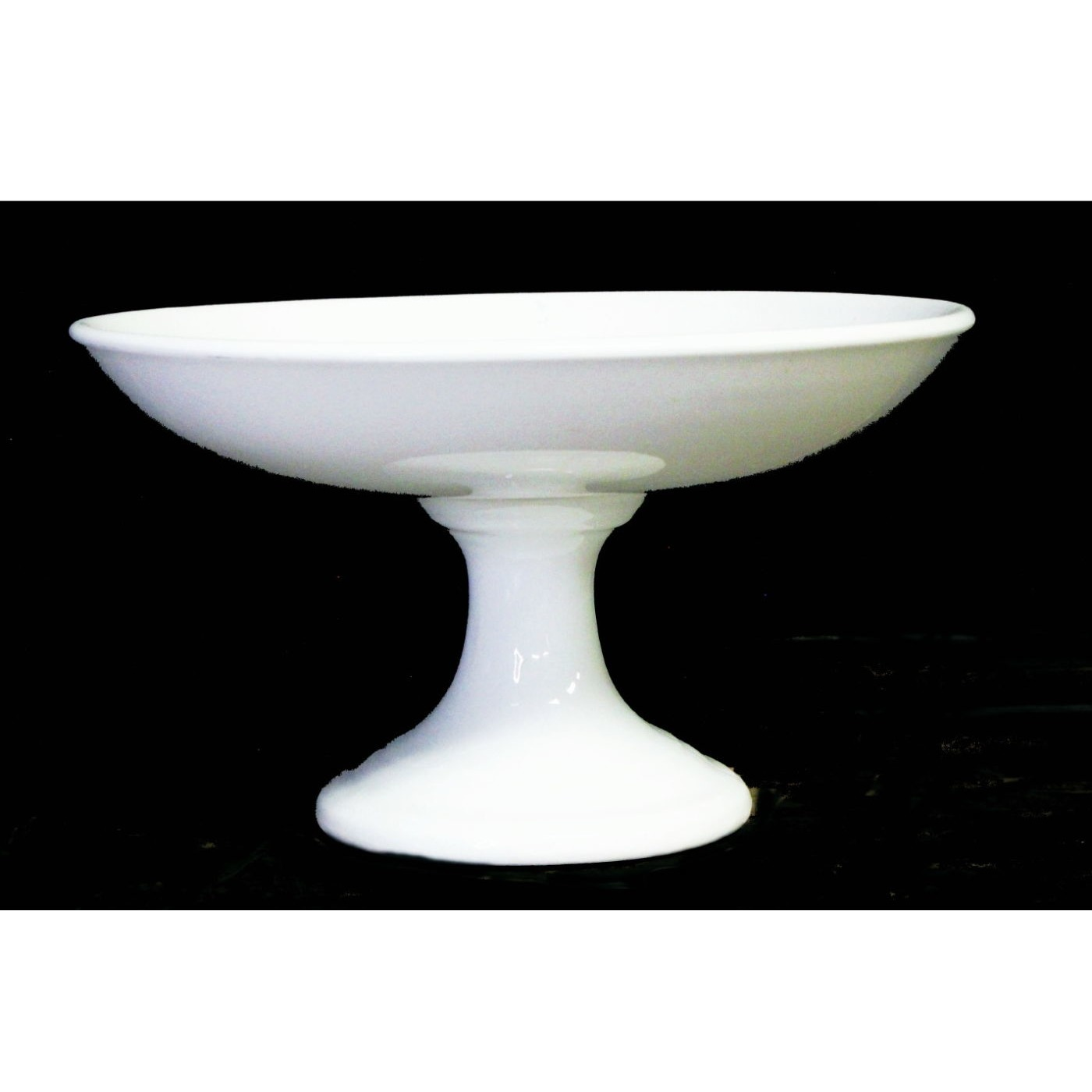 """Middle of Stack, 9.25"""" Ironstone Compote - Medium Size"""