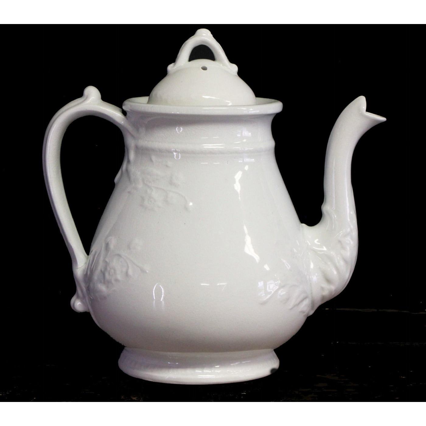 Unusual Floral Ironstone Teapot - Beautiful