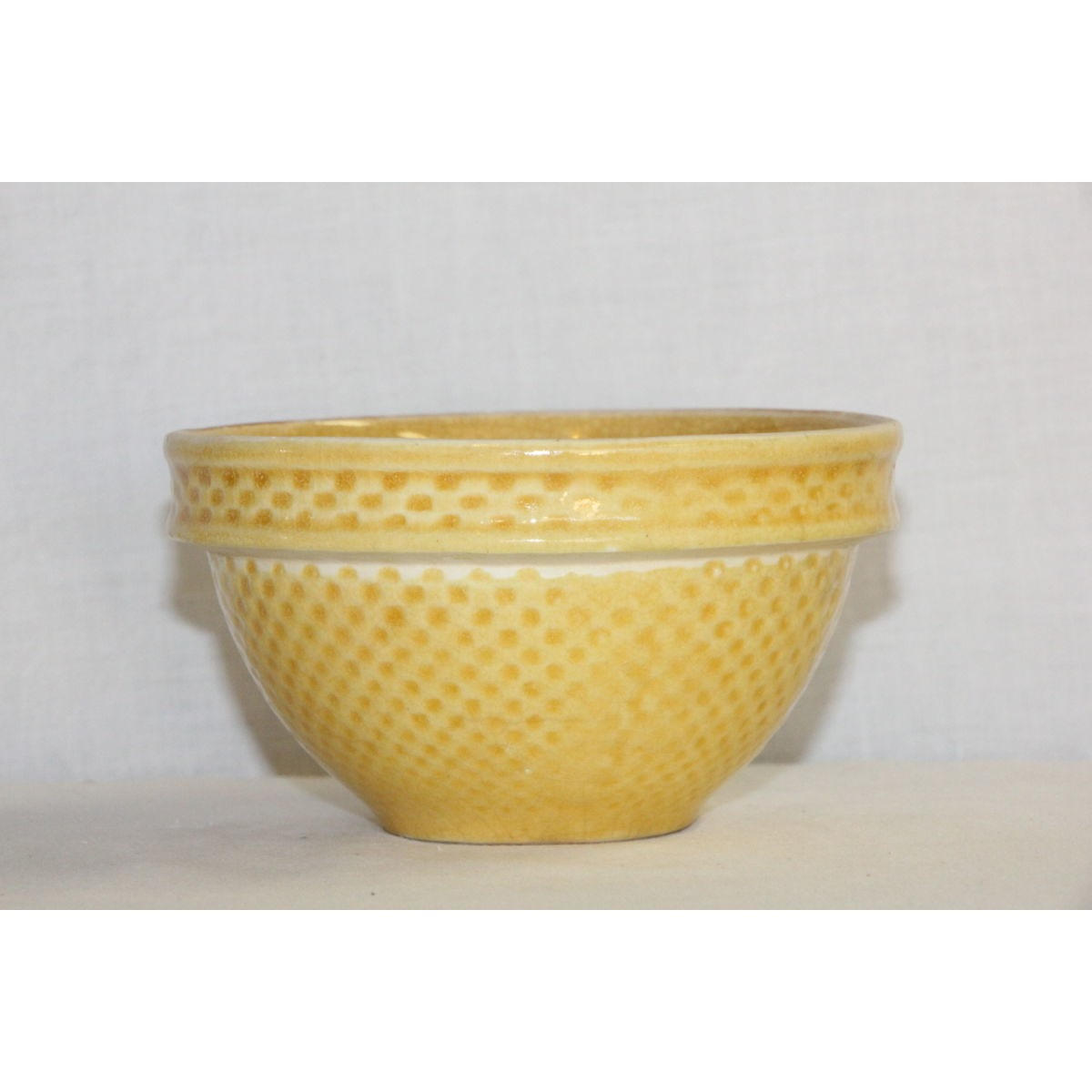 "Summery Yellow 6"" Unusual Checkerboard Bowl"