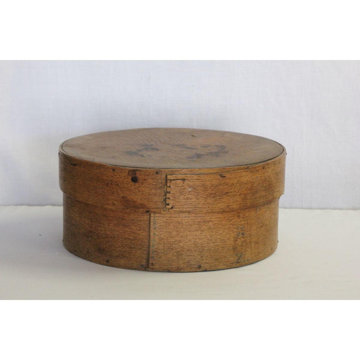 Large Early Nice Patina Wood Pantry Box