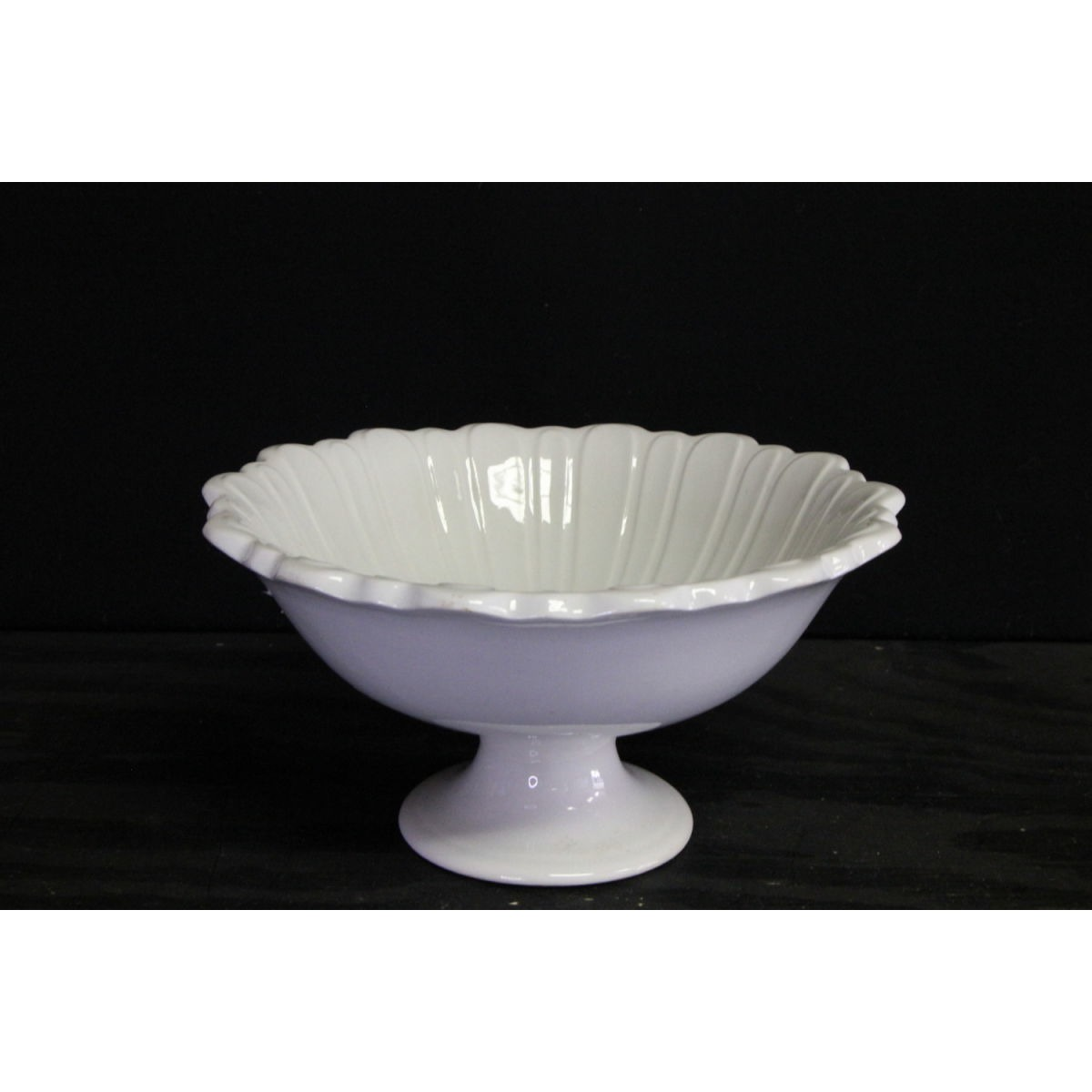 Incredible Ironstone Fluted Scalloped Edge Fruit Bowl